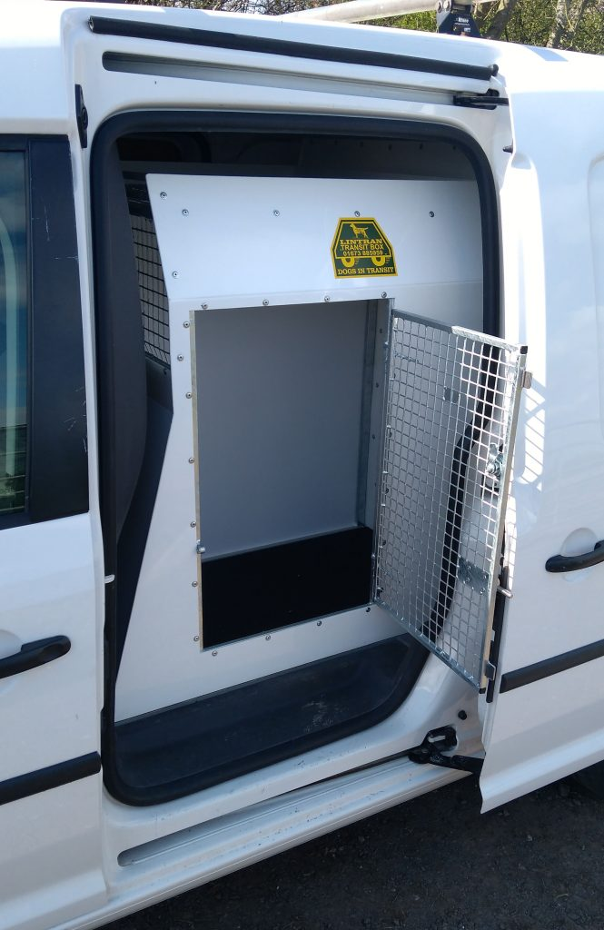 Lintran side cages with escape hatch